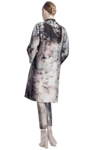 Fluid Garden Mikado Mid Length Coat by VALENTINO for Preorder on Moda Operandi