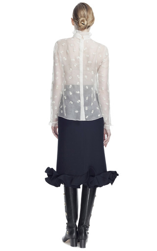 Floral Embroidered Organza Blouse by VALENTINO for Preorder on Moda Operandi