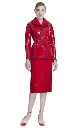 Medium valentino red lacca pea coat