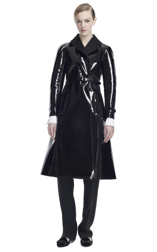 Medium valentino black lacca short trench