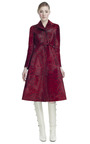 Belted Printed Baby Calf Long Trench by VALENTINO for Preorder on Moda Operandi