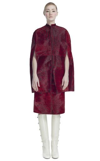 Medium valentino red printed baby calf tubino skirt
