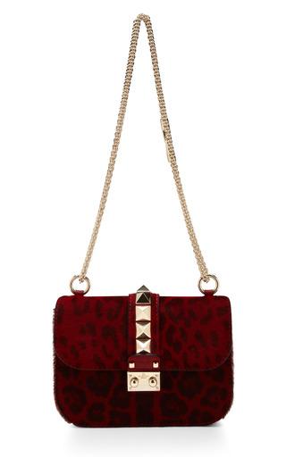 Medium valentino gold lock studded strap shoulder bag