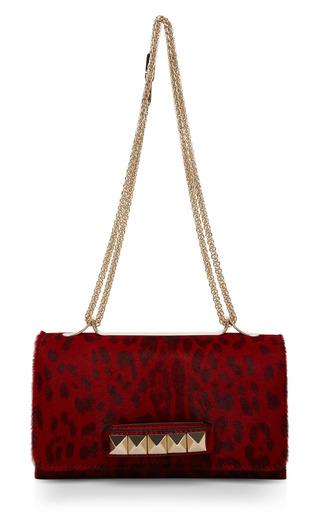 Medium valentino gold red leopard pony hair va va voom handbag