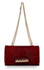 Red Leopard Pony Hair Va Va Voom Handbag by VALENTINO for Preorder on Moda Operandi