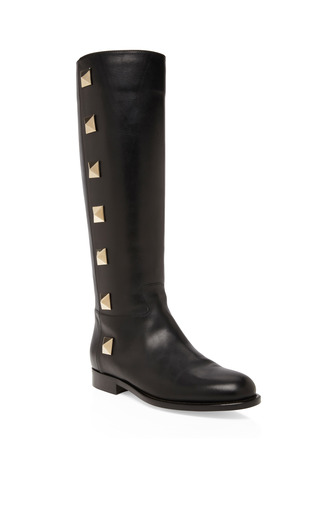 Medium valentino black black lock boots