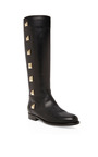 Black Lock Boots by VALENTINO for Preorder on Moda Operandi