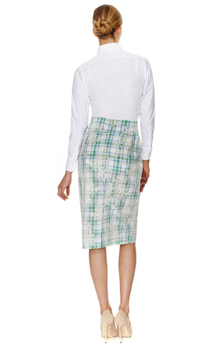 Classic Button Dow Cotton Oxford Shirt by THOM BROWNE Now Available on Moda Operandi