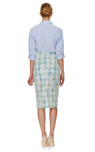 Rounded Collar Oxford Shirt by THOM BROWNE Now Available on Moda Operandi