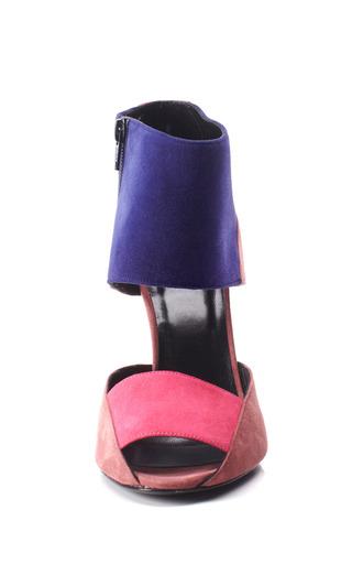 Tri Tone Cone Heel Sandal by PIERRE HARDY for Preorder on Moda Operandi