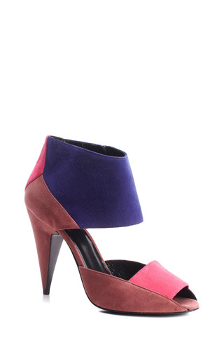 Medium pierre hardy pink tri tone cone heel sandal