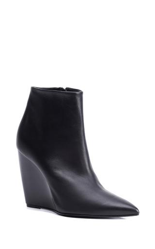 Medium pierre hardy black wedge ankle boot