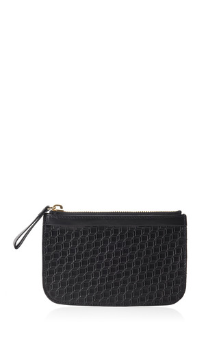 Medium pierre hardy black black embossed small pouch