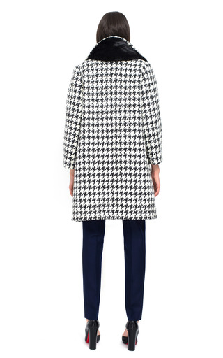Shepherd Check Houndstooth Coat by BOUCHRA JARRAR for Preorder on Moda Operandi