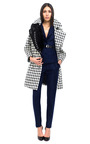 Shepherd Check Houndstooth Coat by BOUCHRA JARRAR for Preorder on Moda Operandi
