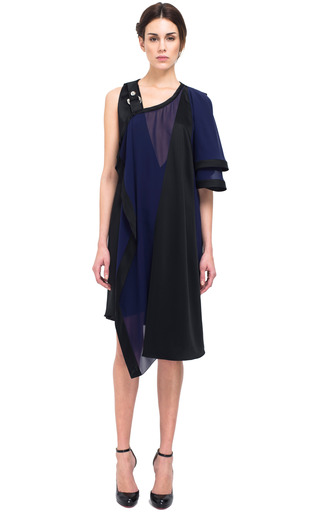 Asymmetric Crepe Sable Cocktail Dress by BOUCHRA JARRAR for Preorder on Moda Operandi