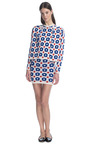 Knit Floral Jacquard Skirt In Blue by J.W. ANDERSON for Preorder on Moda Operandi