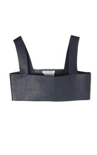 Medium j w anderson navy bra top in navy leather
