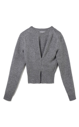 Medium j w anderson dark grey boiled wool twisted sweater in light grey