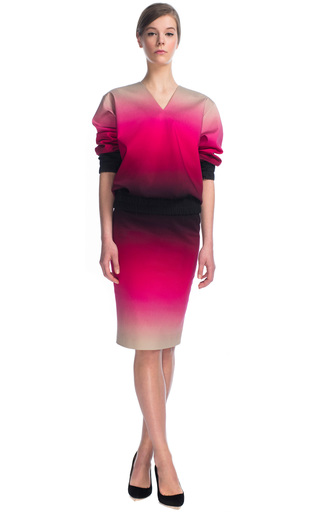 Axel Ombre Skirt In Pink by JONATHAN SAUNDERS for Preorder on Moda Operandi