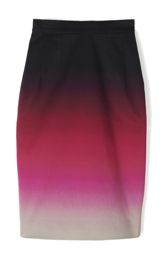 Medium jonathan saunders black axel ombre skirt in pink