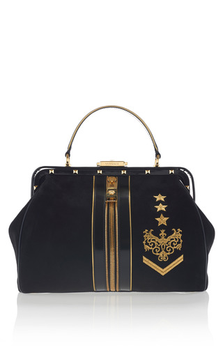 Medium versace black zippered doctor bag