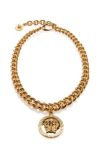 Medium versace chain link medusa necklace