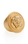 Matte Medusa Ring by VERSACE for Preorder on Moda Operandi
