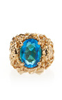 Blue Crystal Ring by VERSACE for Preorder on Moda Operandi