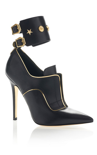 Studded Stilleto Shoe by VERSACE for Preorder on Moda Operandi