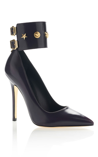 Medium versace black studded pump