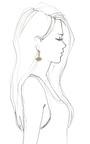Sunburst Swarovski Crystal Drop Earrings by LULU FROST Now Available on Moda Operandi