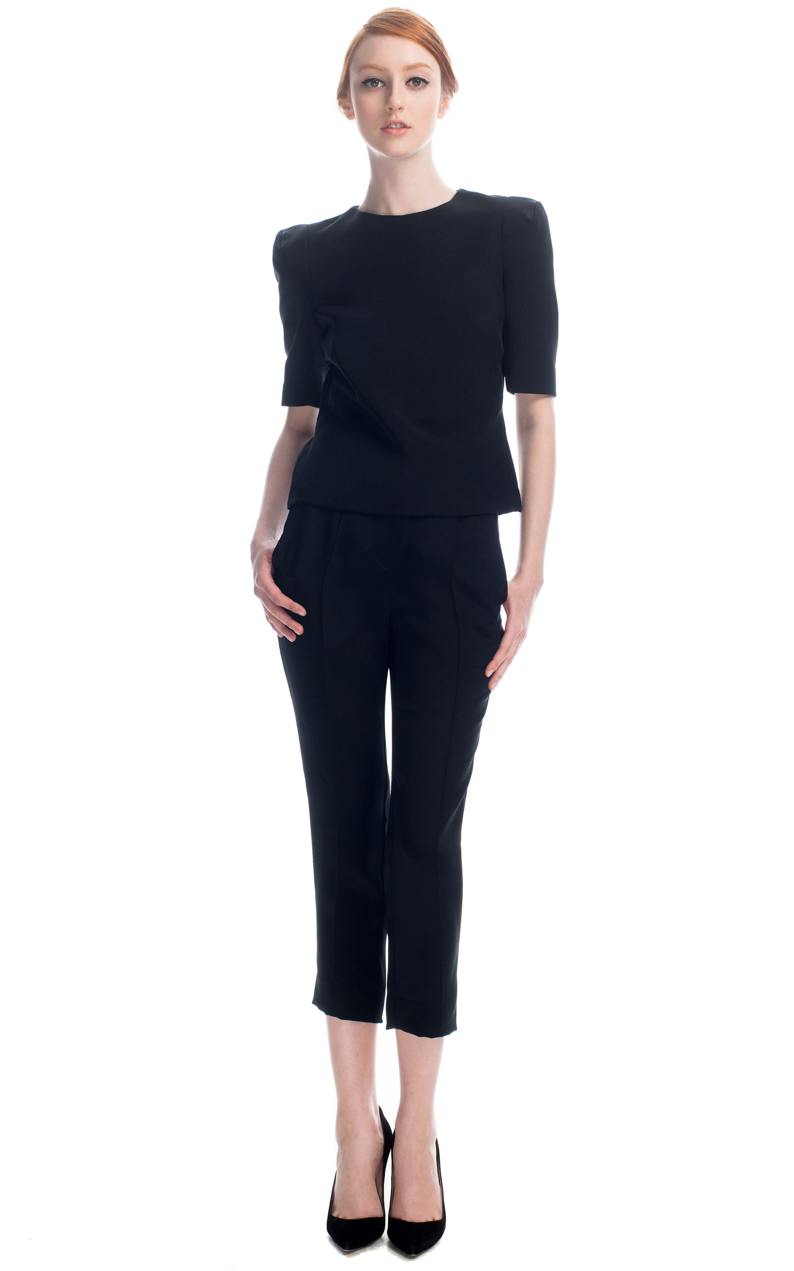 Black Silk Pants by Haryono Setiadi | Moda Operandi