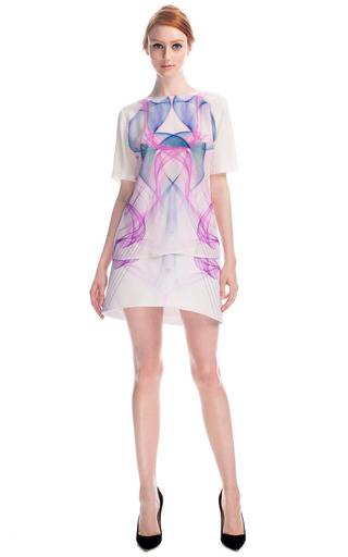 Magenta Silk T Shirt by HARYONO SETIADI for Preorder on Moda Operandi