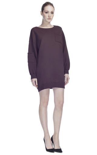 Medium msgm red msgm crew maxi sweatshirt