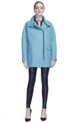 Medium msgm blue wool coat