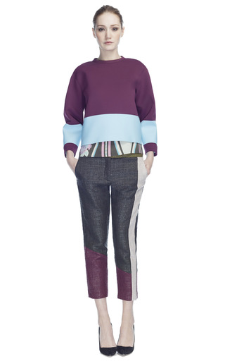 Medium msgm stripe scuba sweatshirt