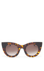 Divinity Sunglasses In Tortoise by THIERRY LASRY Now Available on Moda Operandi