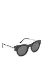 Punchy Sunglasses In Black by THIERRY LASRY Now Available on Moda Operandi