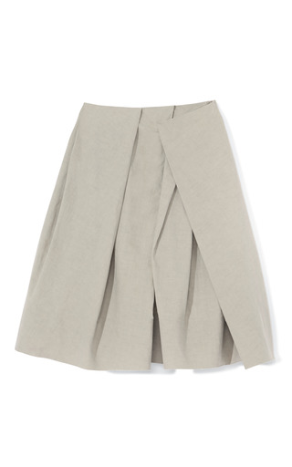 Natural Sculpted Drape Full Skirt by DONNA KARAN Now Available on Moda Operandi
