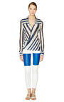 Sheer Stripe Drape Front Blouse by DEREK LAM 10 CROSBY Now Available on Moda Operandi