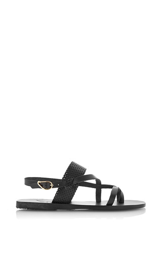 Medium ancient greek sandals black alethea leather sandals