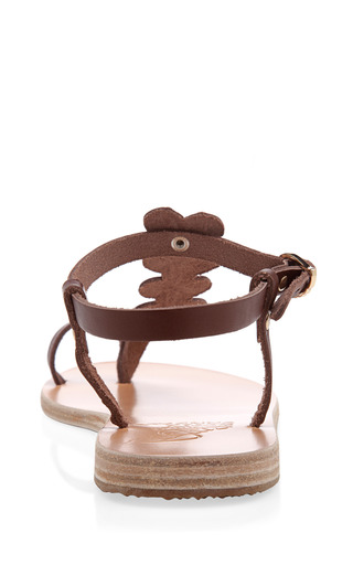 Erofylli Leather T Strap Sandals by ANCIENT GREEK SANDALS Now Available on Moda Operandi