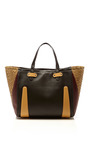 Multicolor Leather & Wicker Tote by CARVEN Now Available on Moda Operandi