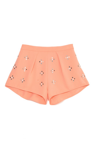 Rhinestone Shorts by CLOVER CANYON Now Available on Moda Operandi