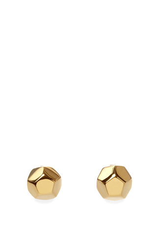 Medium eddie borgo gold nova stud