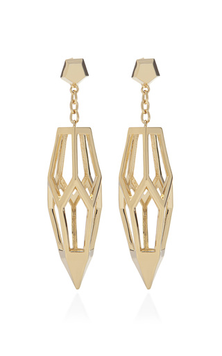 Medium eddie borgo gold hedron earring