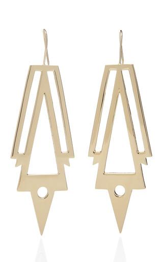 Medium jennifer fisher gold war earrings