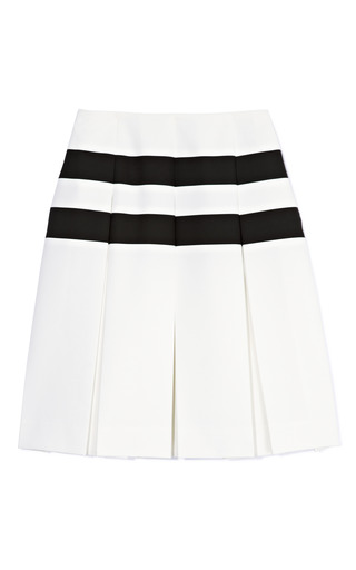 Techno Twill Horizontal Stripe Pleated Skirt by MARC JACOBS Now Available on Moda Operandi