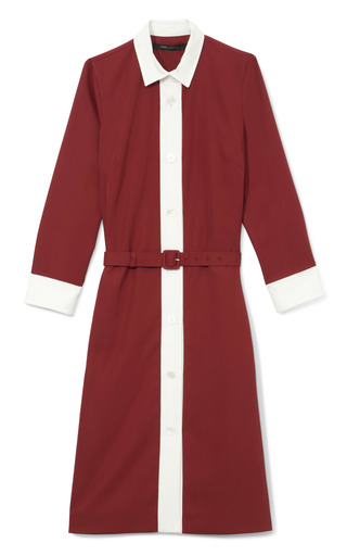 Medium marc jacobs red lightweight techno twill shirt dress in red